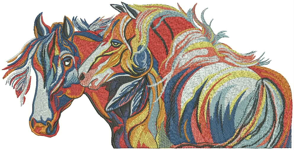 Colorfull horse